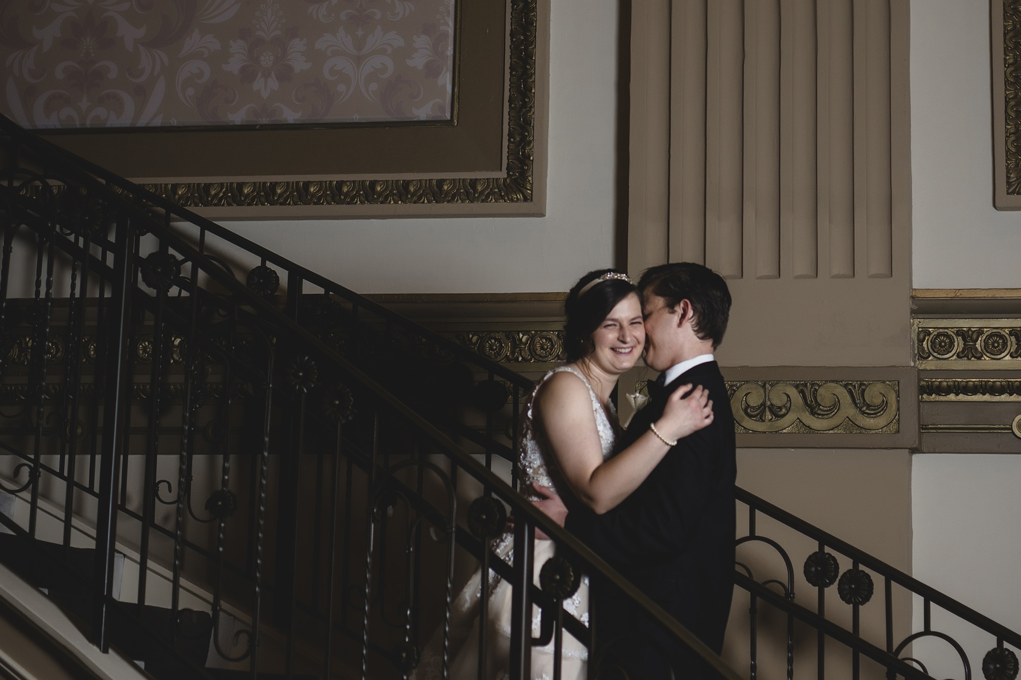 Stephanie And Tom On Grand Staircase