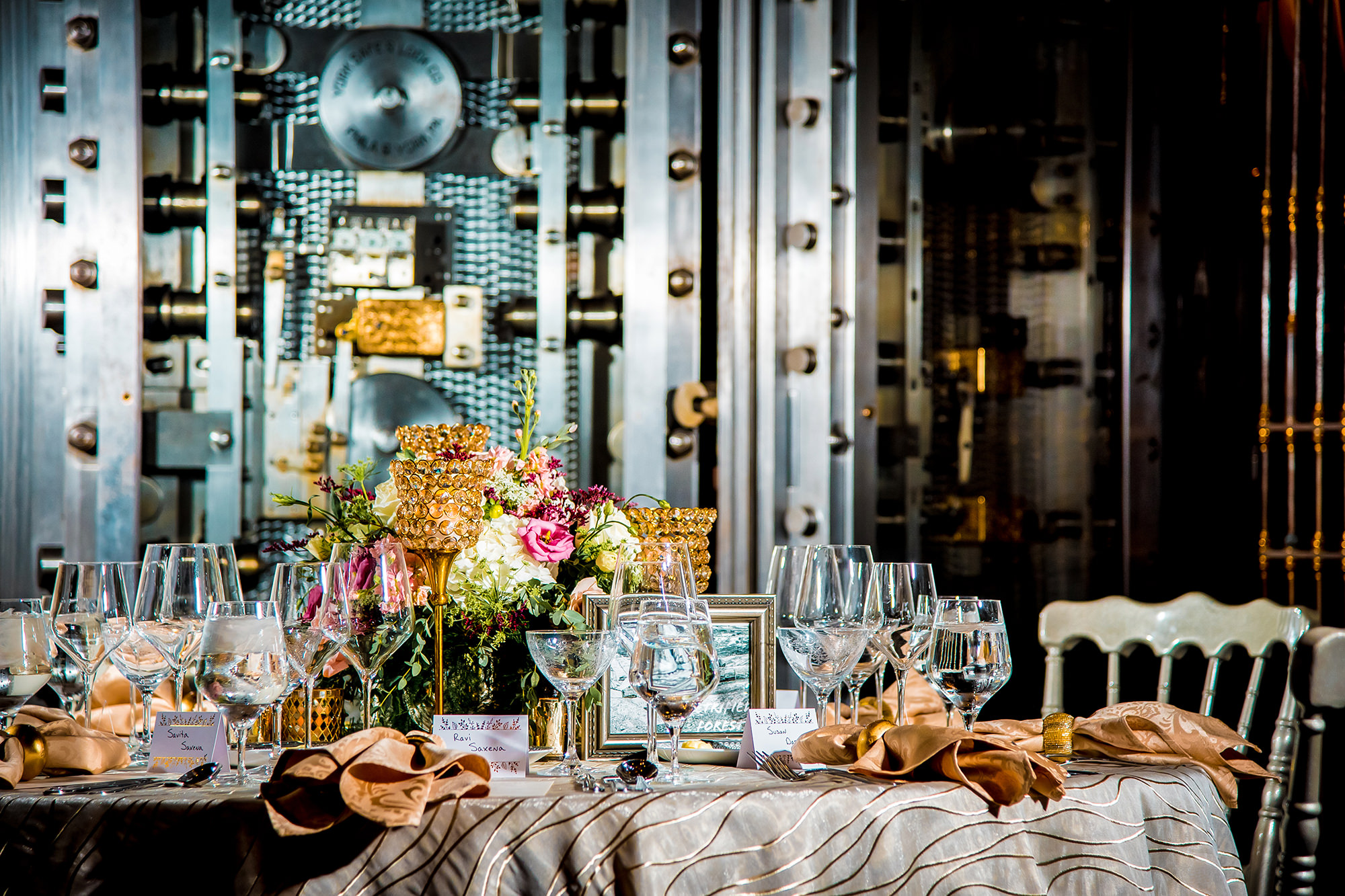 Table Setting In Front Of Vault