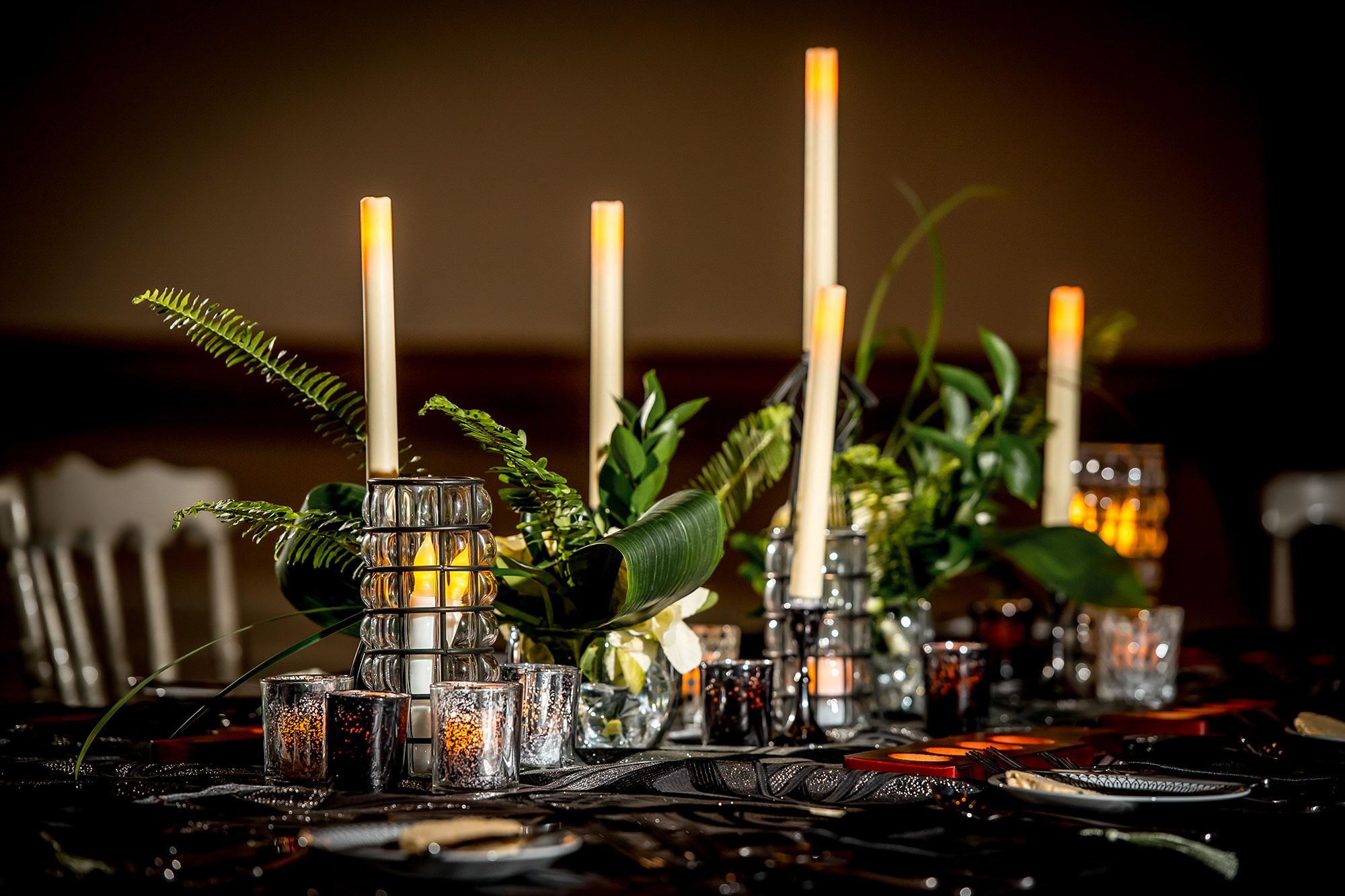 Candles On Table Setting