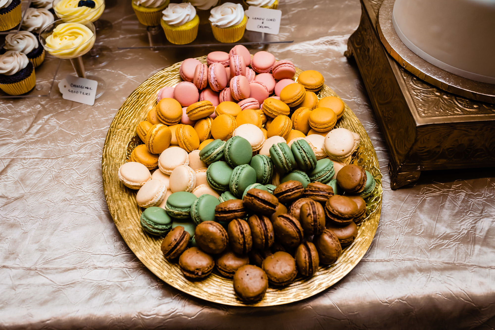 Macaroons On Dessert Table