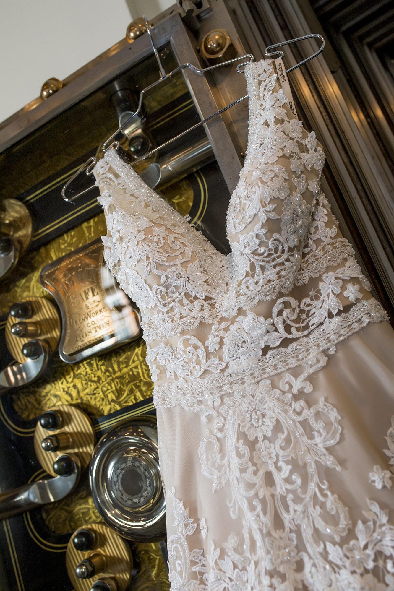 Wedding Dress On Vault Door