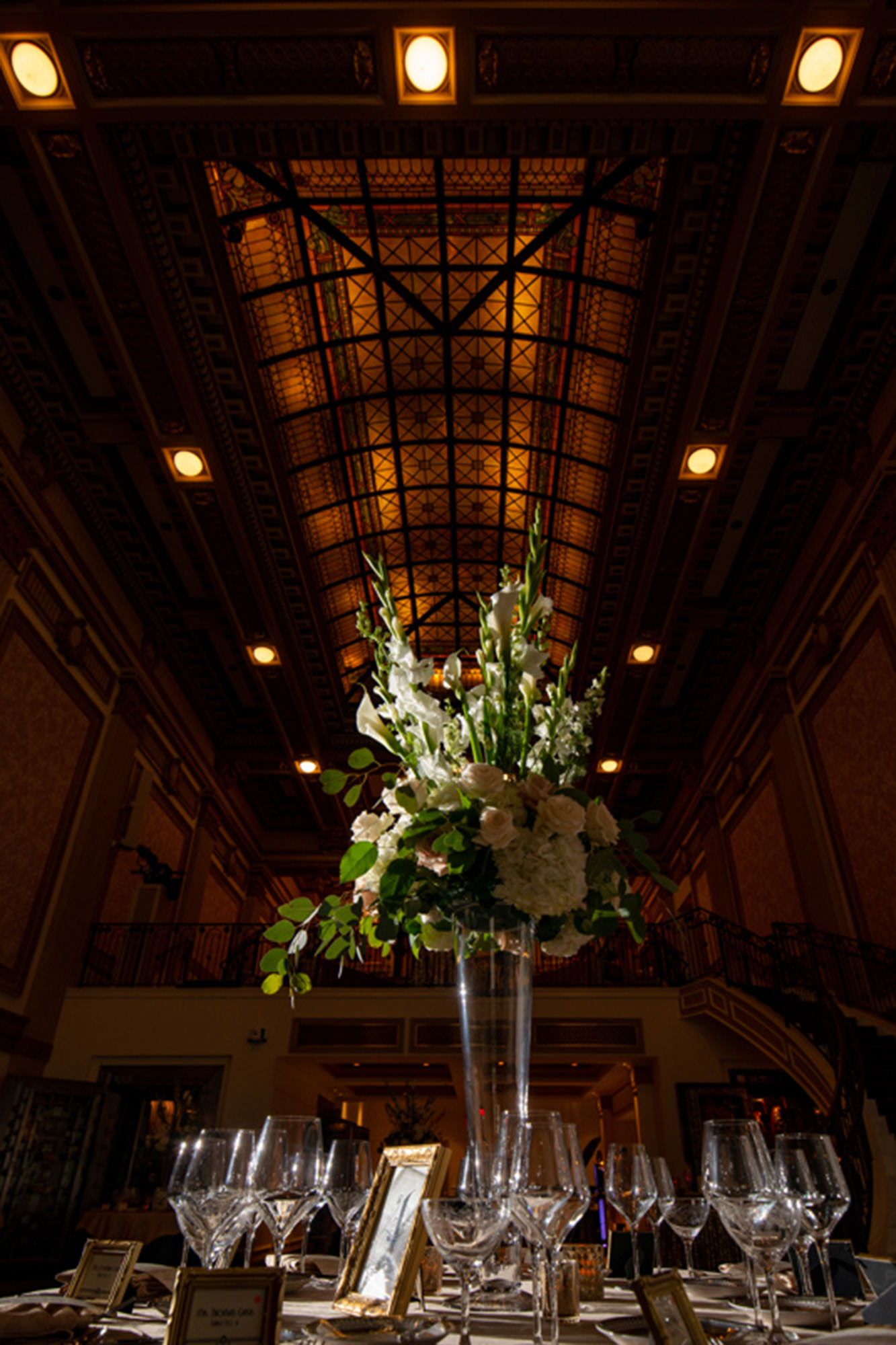 Floral Centerpiece In Great Hall