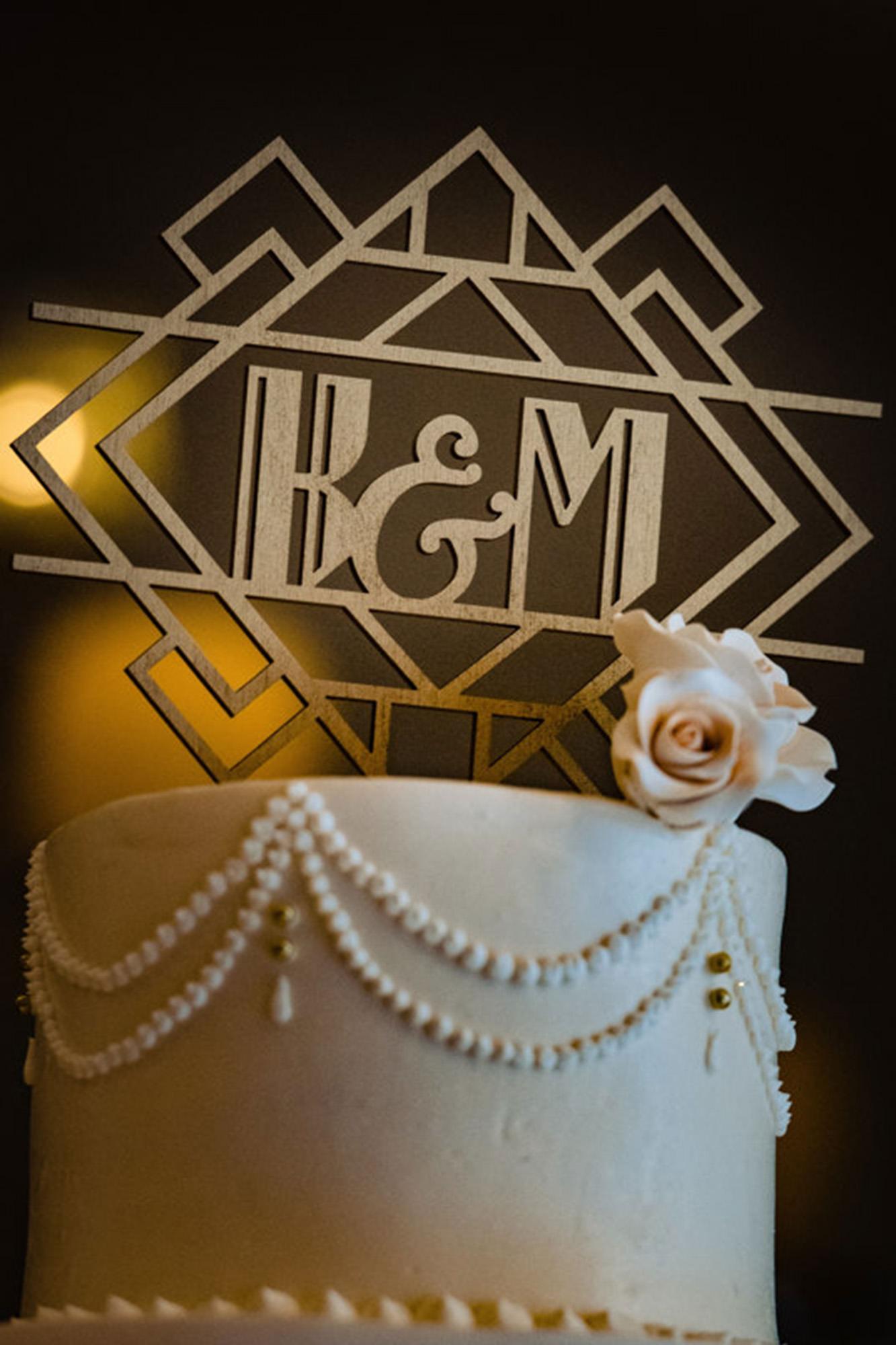 Wedding Cake With Art Deco Logo