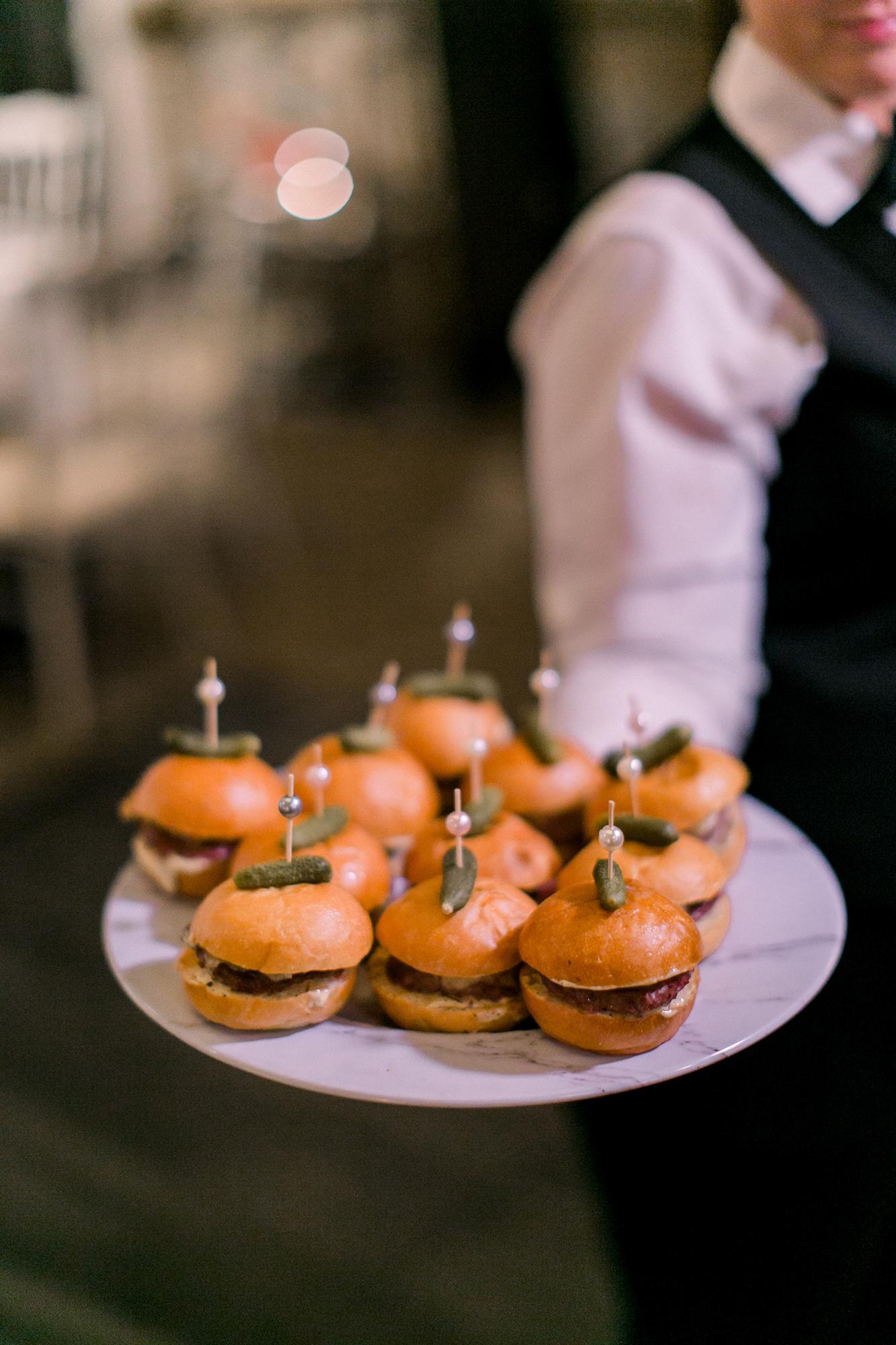 Hamburger Sliders With Gherkin