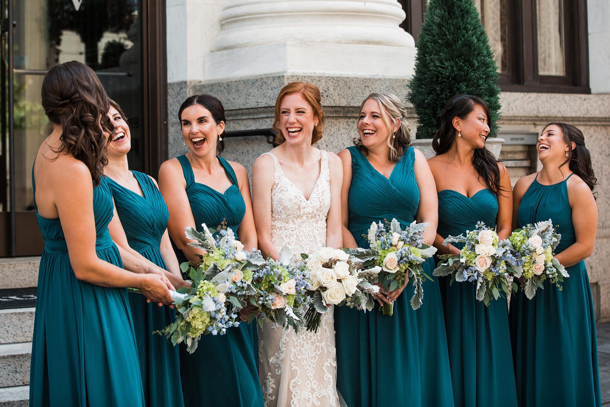 Miriam With Bridesmaids