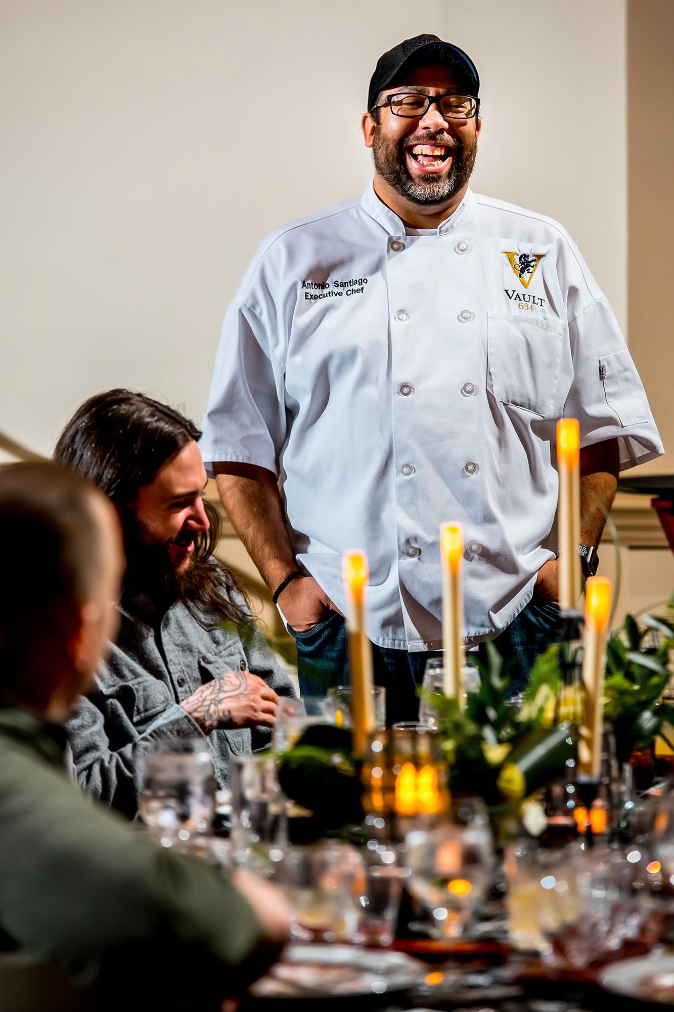 Chef Antonio Describing Menu
