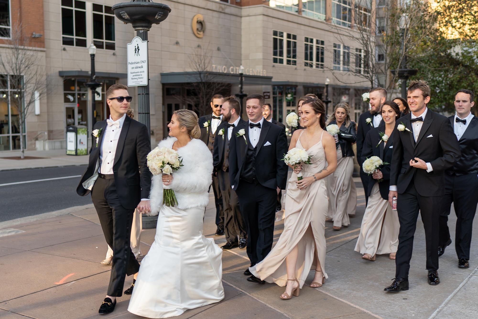Tara And Michael Wedding Party On Hamilton Street