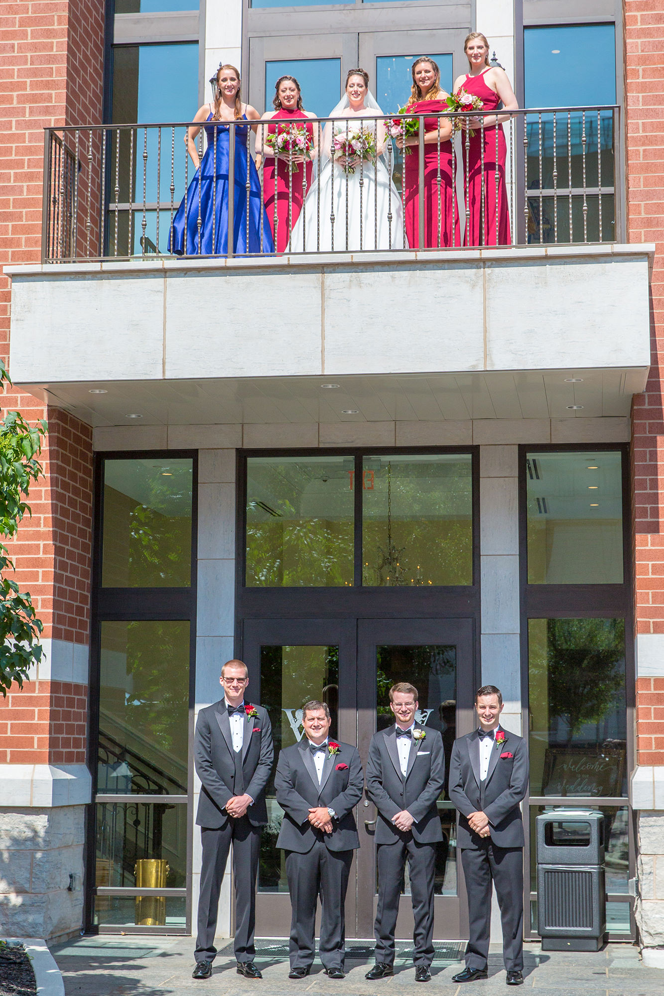 Bridal Party Outside Annex
