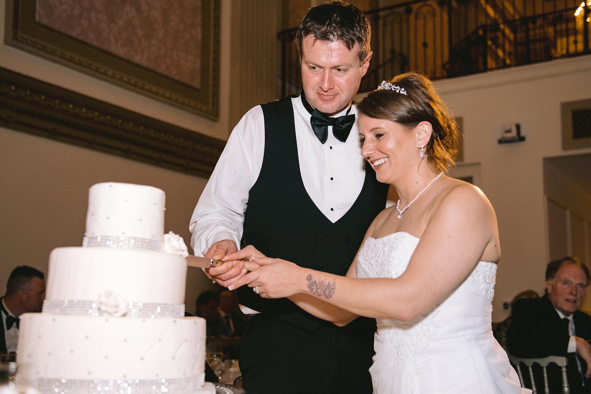 Nadya And David Cutting Cake