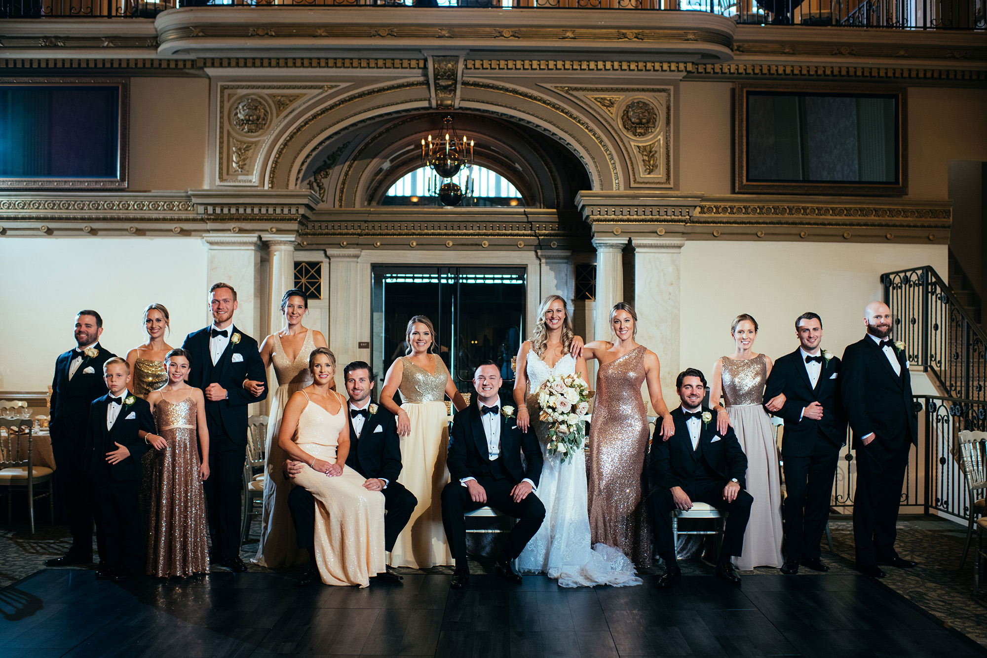Kimberly And Ryan With Bridal Party