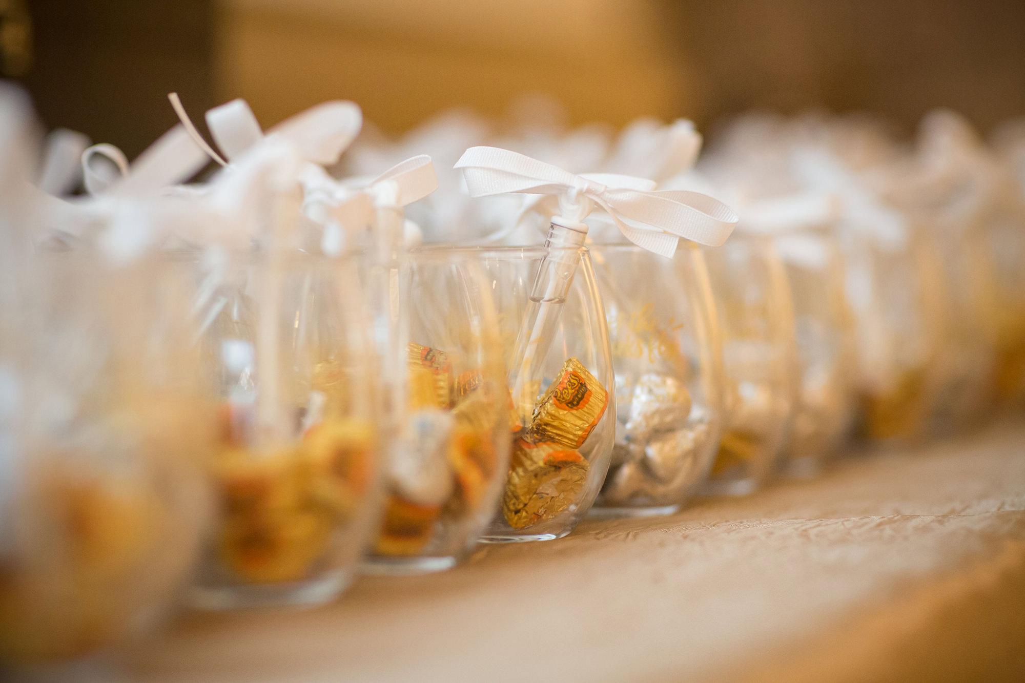 Wedding Favors In Wine Glasses