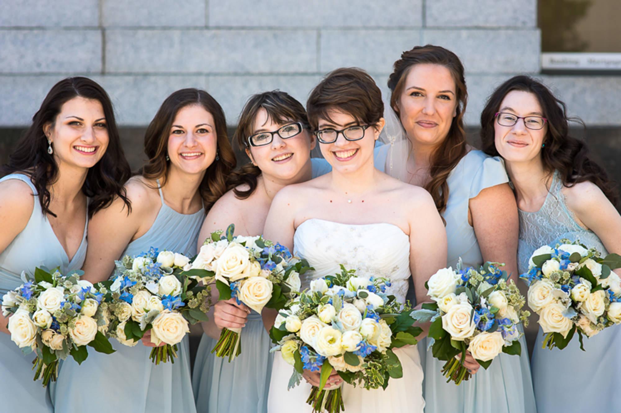 Fran With Bridesmaids