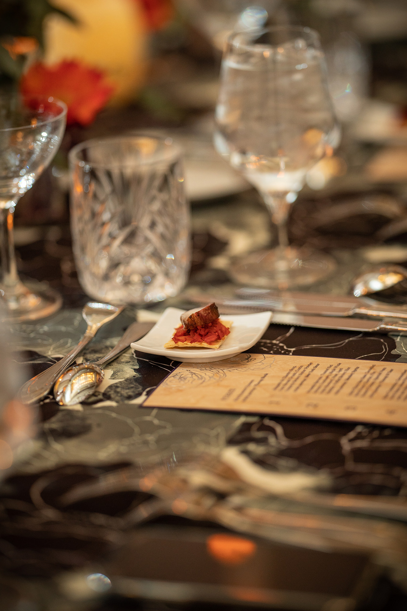 Table Setting With Amuse Bouche