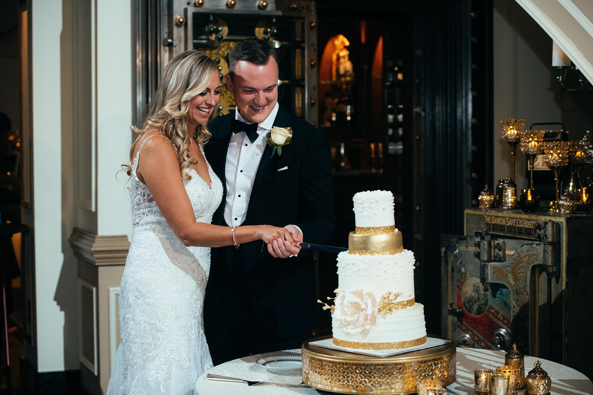 Kimberly And Ryan Cutting Cake